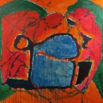 5. Acrylic on canvas - 90cm x 90cm - $500