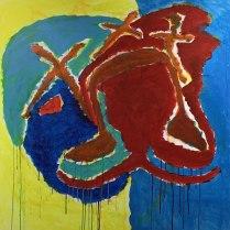 17. Acrylic on canvas - 90cm x 90cm - $500